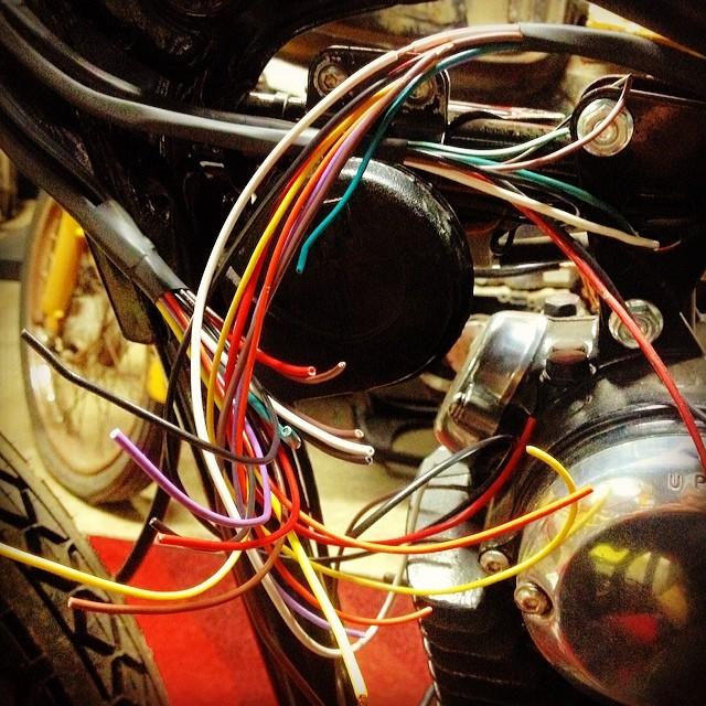 Spaghetti wires Kawasaki KZ100